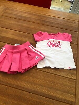 Girls Addidas top & skirt NWT age 6 months