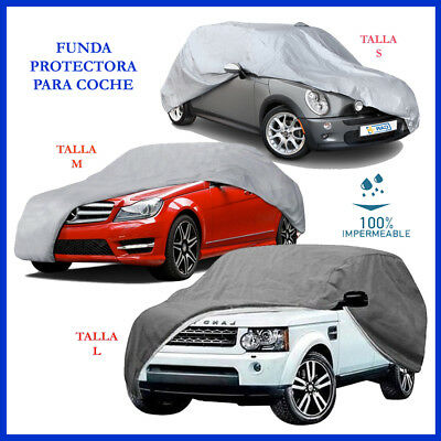 Funda para COCHE cubre protector 4 TALLAS (S-M-L-XL) LONA CUBIERTA impermeable