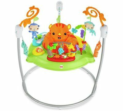 Fisher-Price Roarin' Rainforest Jumperoo - Green Boys Girls Unisex