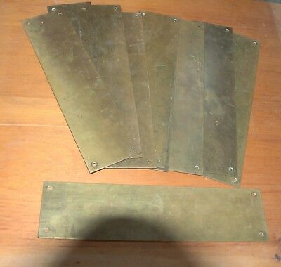 Brass finger plates suitable for covering old door handle marks/holes