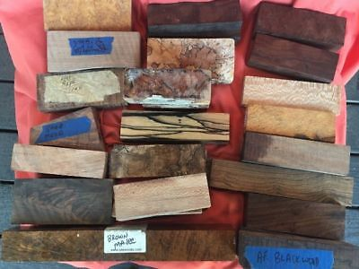 Massive Lot of Knife Handle Blocks and Scales - high quality stabilized