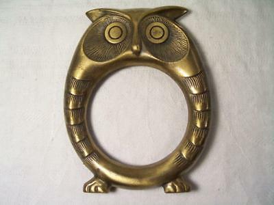 Vintage Bronze Owl Picture Frame Paperweight Frame Only No Back