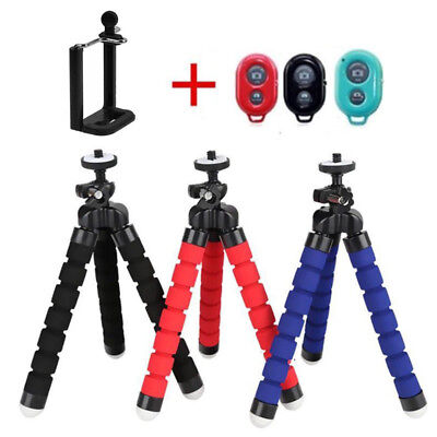 Cell Phone Holder+Remote+Flexible Octopus Tripod Bracket  Selfie Stand Monopod