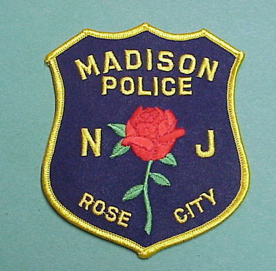 Madison  New Jersey  Nj  Rose City  ( Rose )  ( Gold Letters )  Police Patch