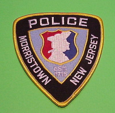 Morristown  New Jersey  Nj  ( Gold Border )  Police Patch   Free Shipping!!!