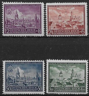 General Government Occupied Poland Mi # 92-95  MH 1942 *
