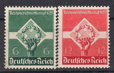 Germany Third Reich Mi# 571-572 MH Apprentices Vocational Contest 1935  *