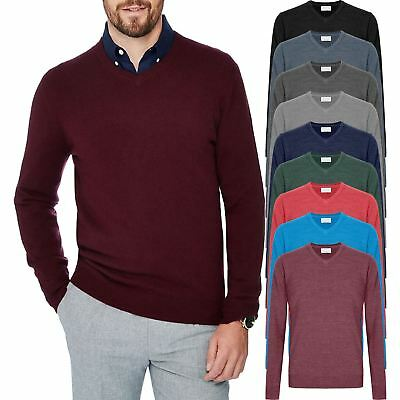 Men Chainstore Cashmere Jumper V Neck  Soft Touch Knitted Sweater Pullover M-5XL