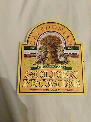 beer pump clip badge - Caledonian Brewery Golden Promise Organic Ale