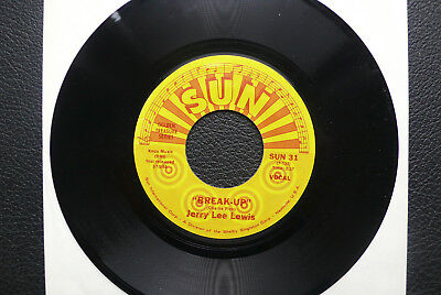 """7"""" Jerry Lee Lewis - Break Up/ I'll Make It All Up To You - US SUN"""