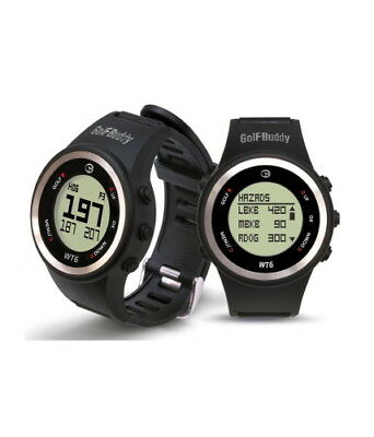 New Golf Buddy Wt6 Golf Course Gps Watch System No Fees Ever Black