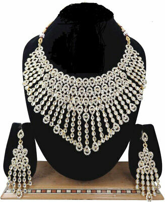 Indian Bollywood Jewelry Wedding Bridal Fashion Cz Statement