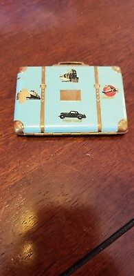 Vintage Suitcase Compact Pat 1883793 Made In USA