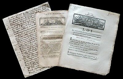 French Revolution- 3 Documents, Law notarial act (1788 /1797)- to see absolutely