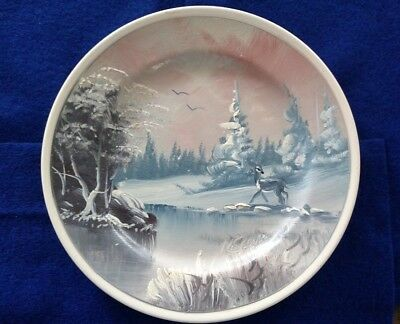 Hand Painted Cabinet Plate by M. Spencer 91