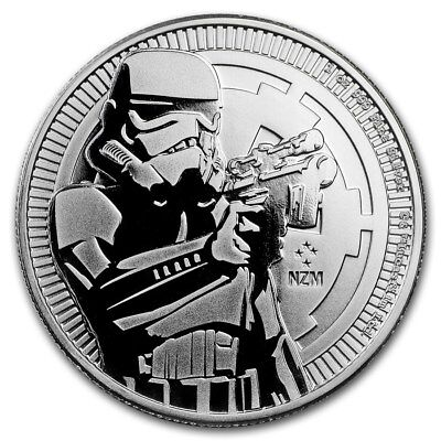 2018 Niue Star Wars Stormtrooper $2 BU 1 oz Silver Coin in Capsule