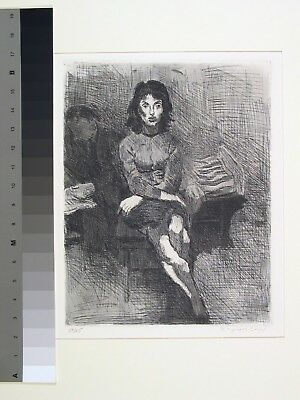 Raphael Soyer, Couple in Interior, Etching and aquatint, 1963-1964