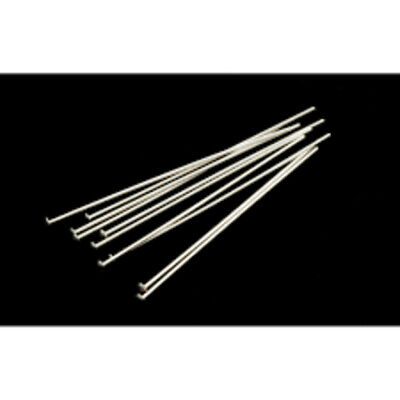 200 - 40 mm Silver Plated Flat Head Pins Jewellery Making Craft Findings