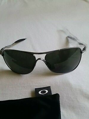 892a4d5156 OAKLEY CROSSHAIR AVIATOR Sunglasses With Black Iridium Lenses ...