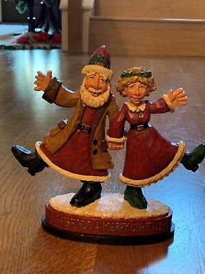 2004 David Frykman Christmas Collection *SANTA & MRS CLAUS * figurine signed