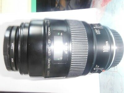 Canon Ef 100mm F/2.8 Macro Lens good condition / boxed