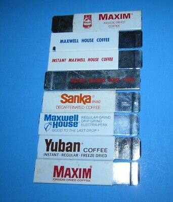 7 VINTAGE ADVERTISING Maxwell House Coffee BOX CUTTERS KNIVES LOT