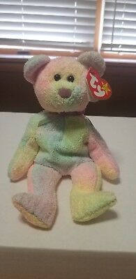 "TY Beanie Baby ""Groovy"" with RARE Tush Tag and tag Errors. With tag protector"