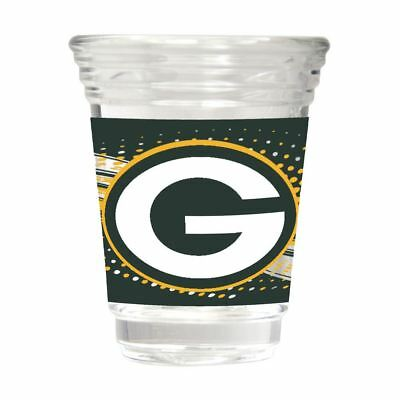 Green Bay Packers Party Shot Glass Team Graphics 2oz.
