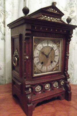 Antique clock  Lenzkirch  ting tang german mantle clock