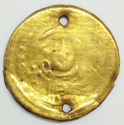 Silver badge , gold plated, Byzantine Bracteate 600-700AD.Very Rare
