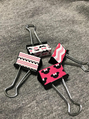 Disney Minnie Mouse Binder Clips - Set of 4