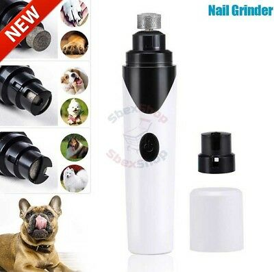 Premium Rechargeable Painless Pet's Nail Grinder Clippers Grooming Paws Cutter