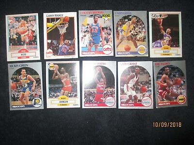 ESTATE LIQUIDATION- LOT OF 12-- 1990 Basketball Trading Cards