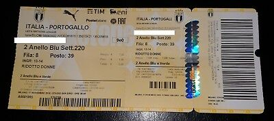 Biglietto/ticket Italia-Portogallo 17-11-18 (Italy-Portugal),uefa Nations League