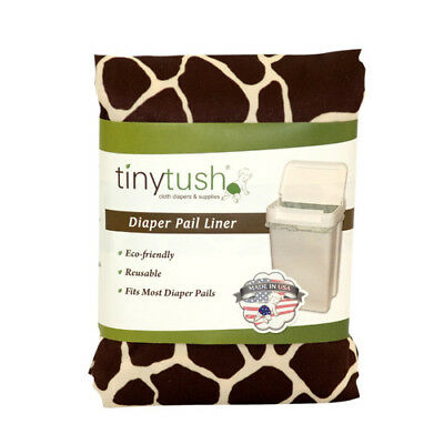 Cloth diaper pail liner /extra large reusable bag- Print Giraffe
