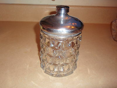 Depression Glass Elegant Fostoria American Box Tobacco Or Cooky With Lid #2