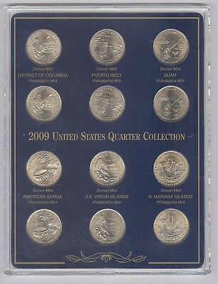 2009 United States Uncirculated Quarter Collection + P & D Mint + 12 Coins