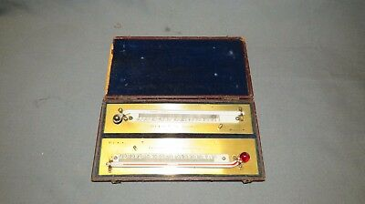 A 19th CENTURY CHADBURN CASED MAX & MIN THERMOMETERS
