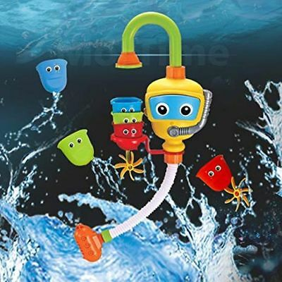 Baby Bath Toy - Flow N Fill Spout - 3 Stackable Cups and Automated Spout