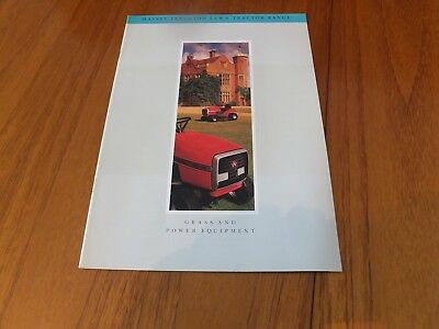 Massey Ferguson Grass And Power Equipment Brochure