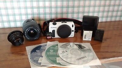 Canon EOS M 18.0MP Digital Camera - (Kit w/35mm F1.6 and 18-55mm EF-S Lens)