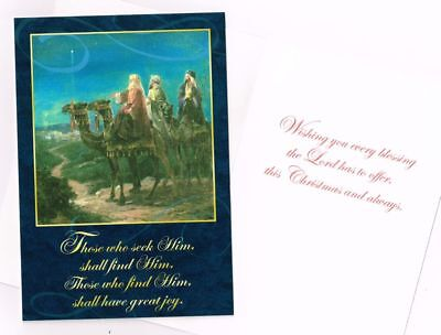 Leanin' Tree Box of 10 Christmas Cards: Wise Men. Those who seek Him shall find