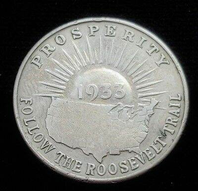 1933 Century of Progress World's Fair LUCKY TILLICUM Roosevelt Prosperity Token