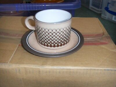 HORNSEA Coral   cup and saucer
