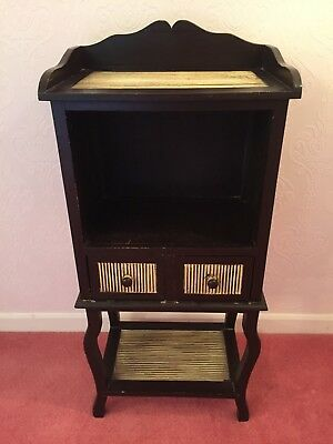 Wooden Retro Display Cabinet & Drawers Storage Unit - Antique Furniture