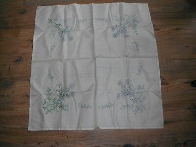 <Vintage Pure linen Tablecloth To be Embroidered No Threads Some Work Done.