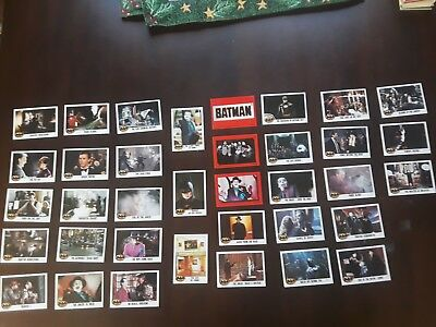 Lot of 36 Batman Trading Cards & Stickers - 1989 - Topps / DC Comics -