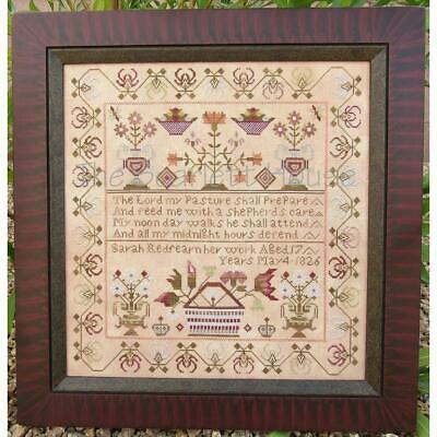 Sarah Redfearn 1826 Reproduction Sampler Scarlett House Cross Stitch Pattern