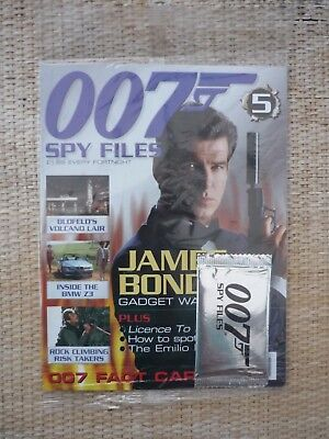 James Bond 007 Spy Files Magazine Issue No: 5 New & unopened with cards