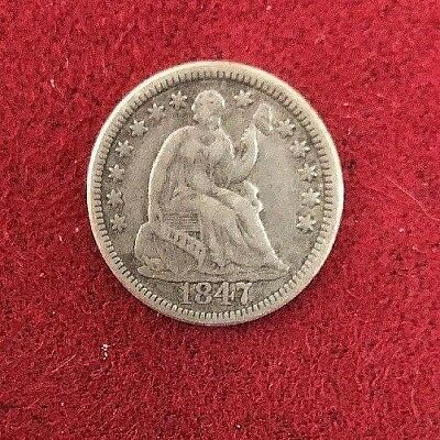 1847 Seated Liberty Half Dime-Very High Grade-Extremely Rare-Key Date